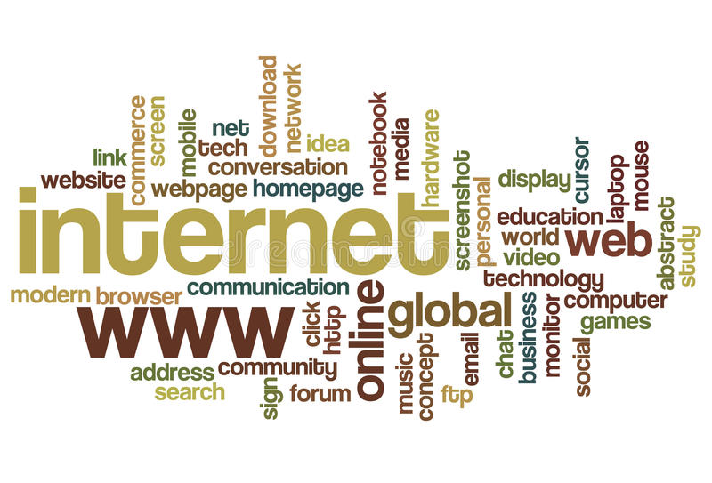 Internet - de Wolk van Word vector illustratie