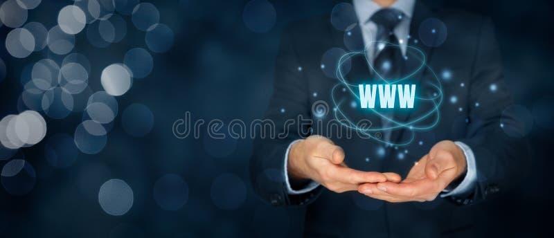 Internet de WWW y SEO fotos de archivo libres de regalías