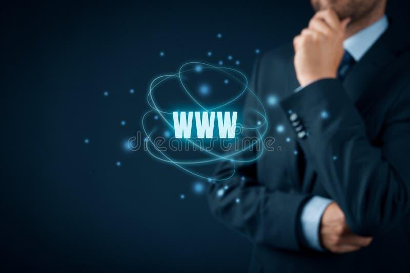 Internet de WWW y SEO foto de archivo
