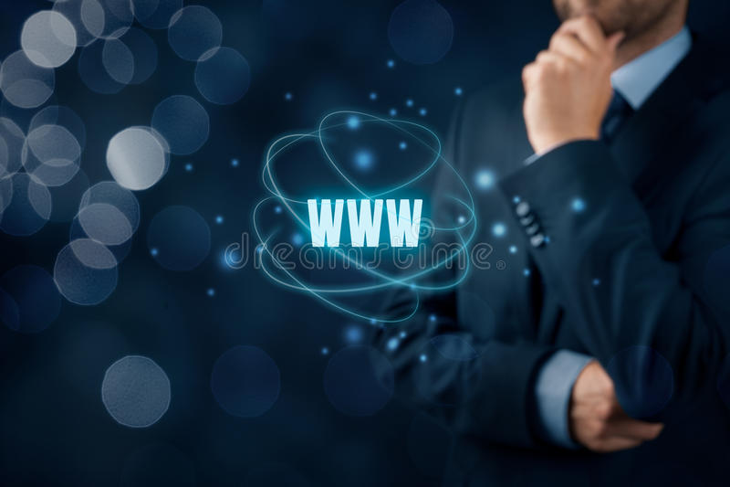 Internet de WWW y SEO imagen de archivo