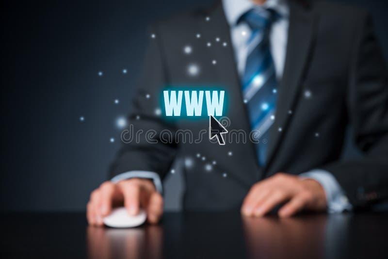 Internet de WWW y SEO foto de archivo libre de regalías