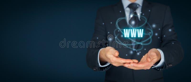 Internet de WWW y SEO fotografía de archivo