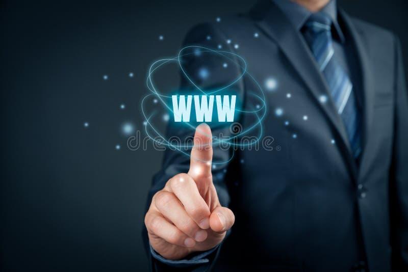 Internet de WWW y SEO fotografía de archivo libre de regalías