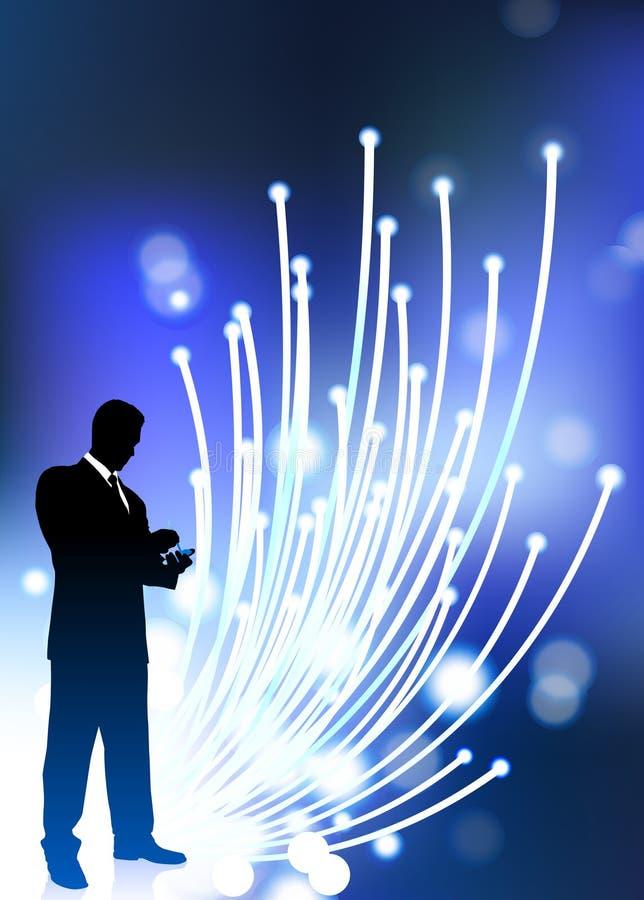 Internet del cable óptico de fibra de la comunicación empresarial ilustración del vector