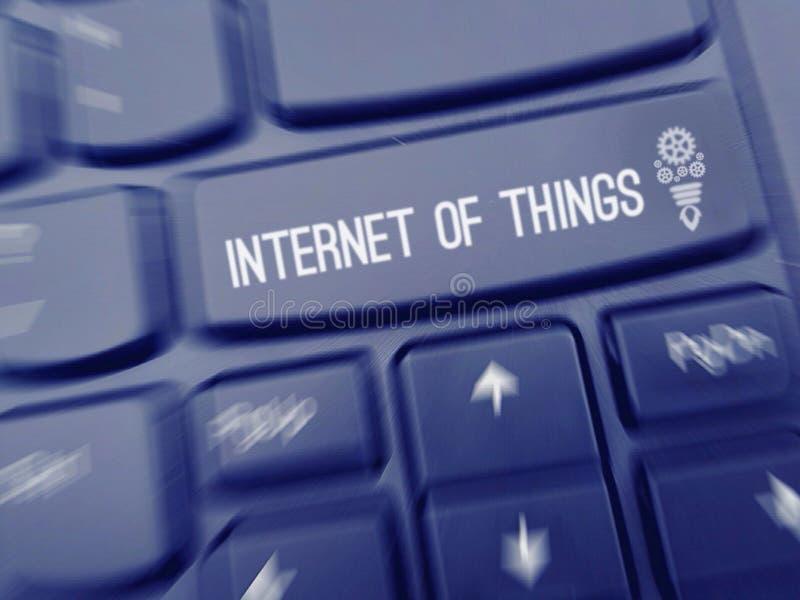 Internet del cartel industrial de las cosas imagenes de archivo
