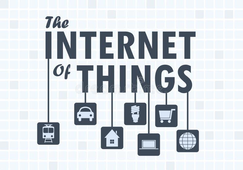 Internet del concepto de las cosas ilustración del vector