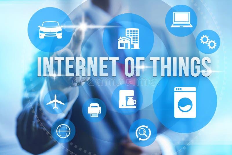 Internet del concepto de las cosas