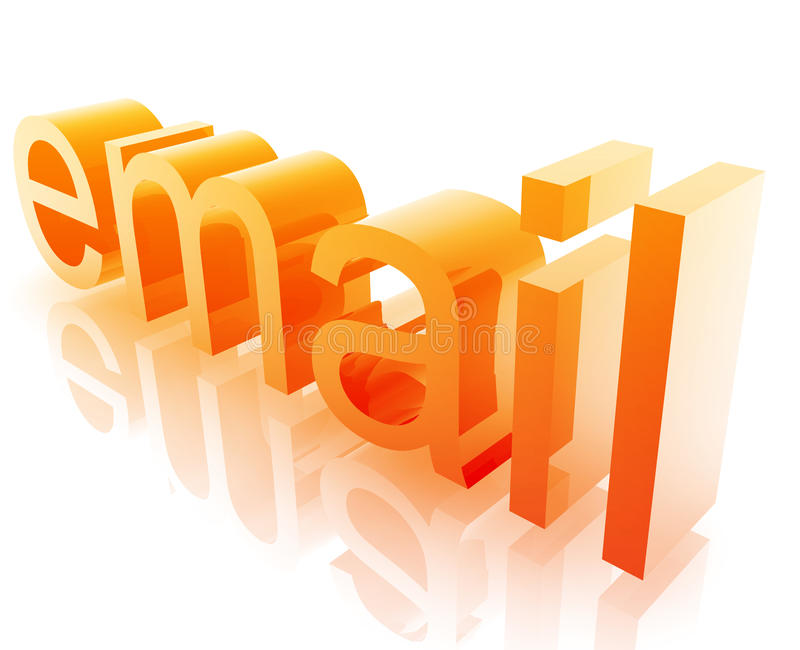 Internet del email illustrazione di stock
