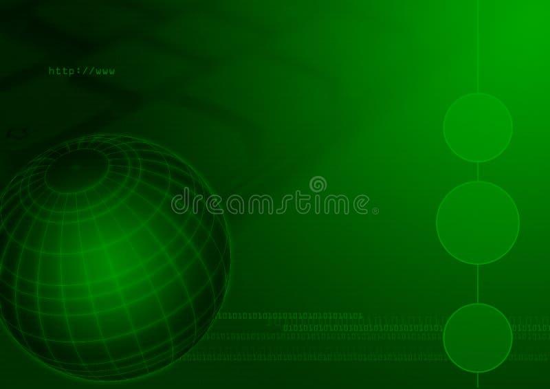 Internet del globo di tecnologie informatiche illustrazione vettoriale