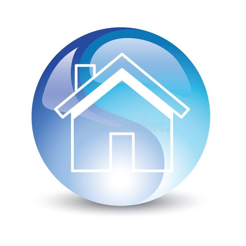 Internet del icono de la casa ilustración del vector