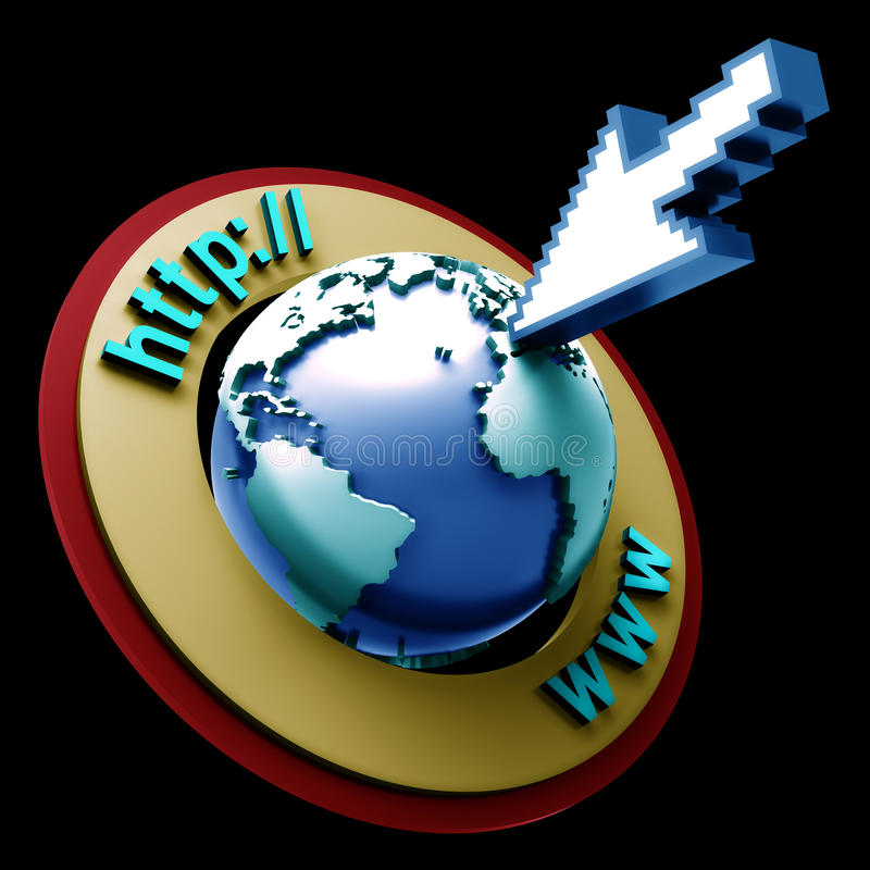 Internet del mondo illustrazione di stock