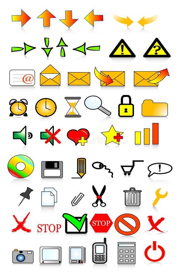 Internet delle icone illustrazione di stock