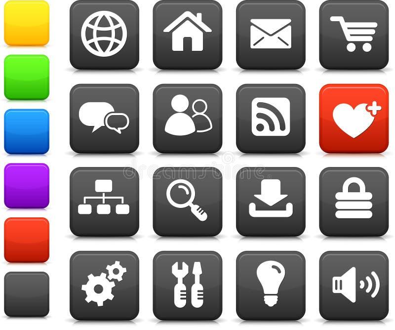 Internet design icon set royalty free illustration