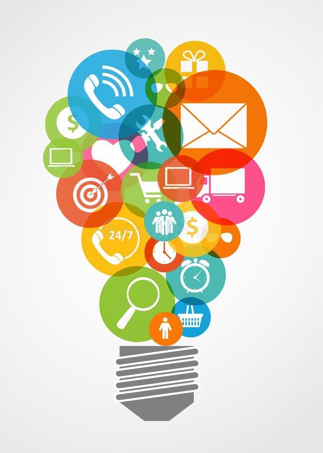 Internet di affari per gli apparecchi elettronici differenti royalty illustrazione gratis