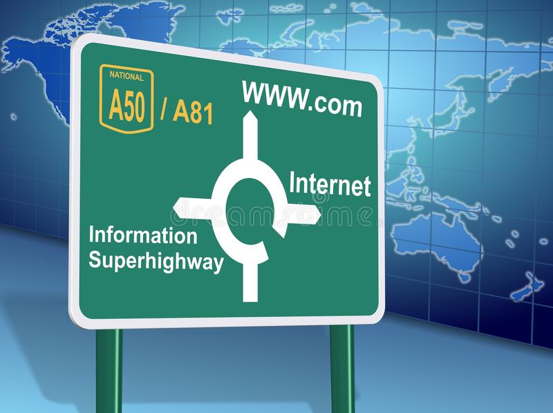 Internet Directions Royalty Free Stock Image
