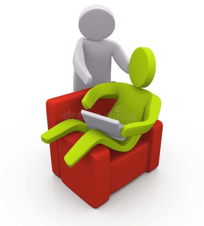 Download Internet Discussion stock illustration. Illustration of netbook - 13970260