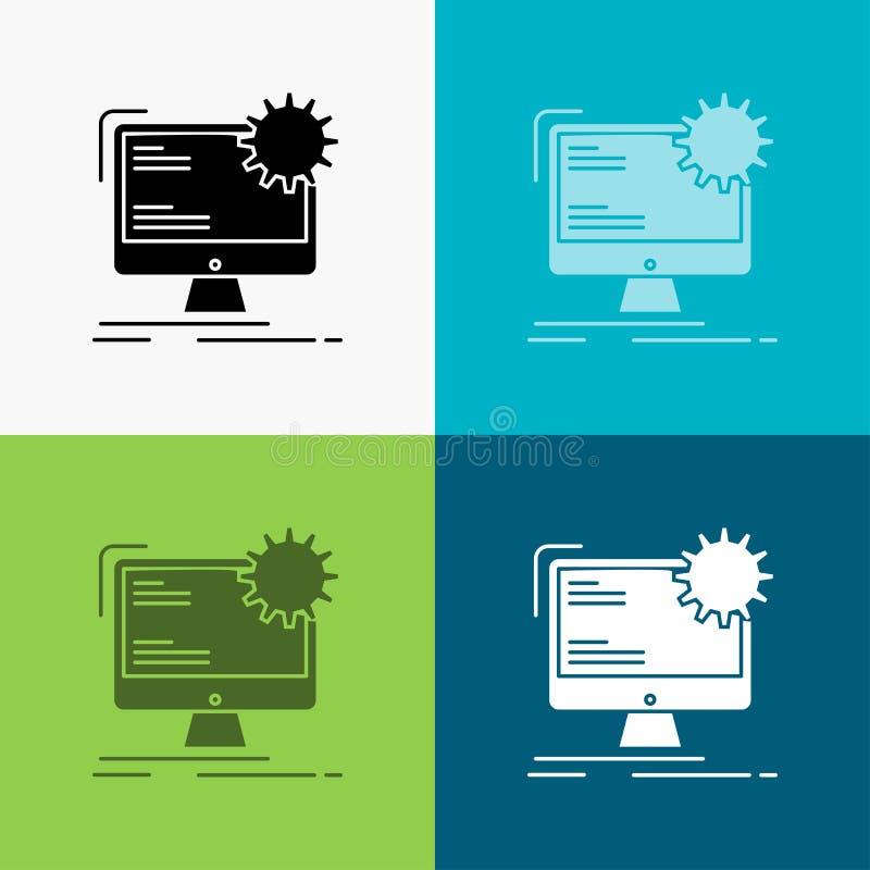 Internet, disposição, página, local, ícone estático sobre o vário fundo projeto do estilo do glyph, projetado para a Web e o app  ilustração do vetor
