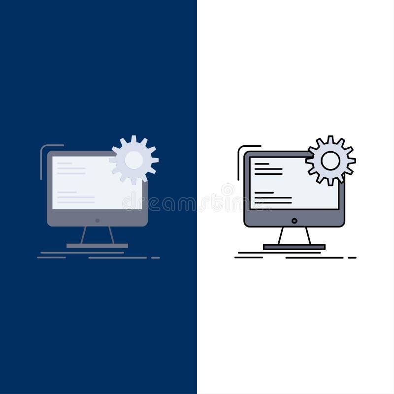 Internet, disposição, página, local, vetor liso estático do ícone da cor ilustração do vetor