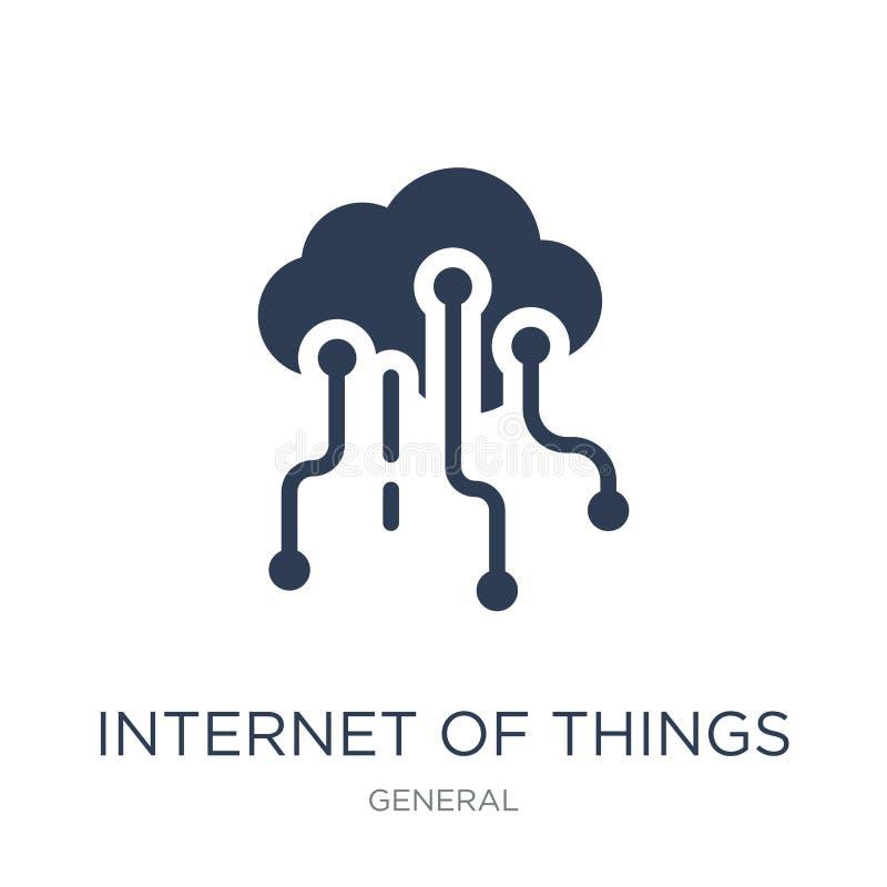 Internet do ícone das coisas  ilustração do vetor