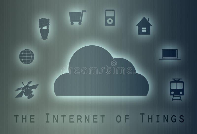Internet do conceito das coisas ilustração do vetor