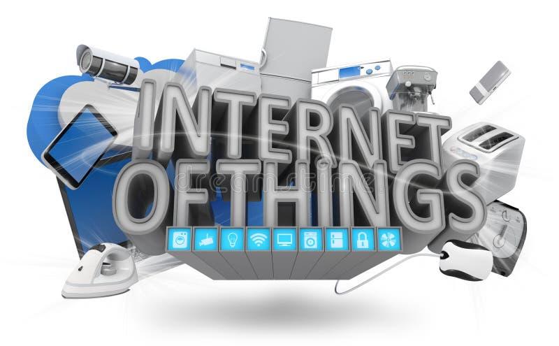 Internet do conceito das coisas ilustração royalty free