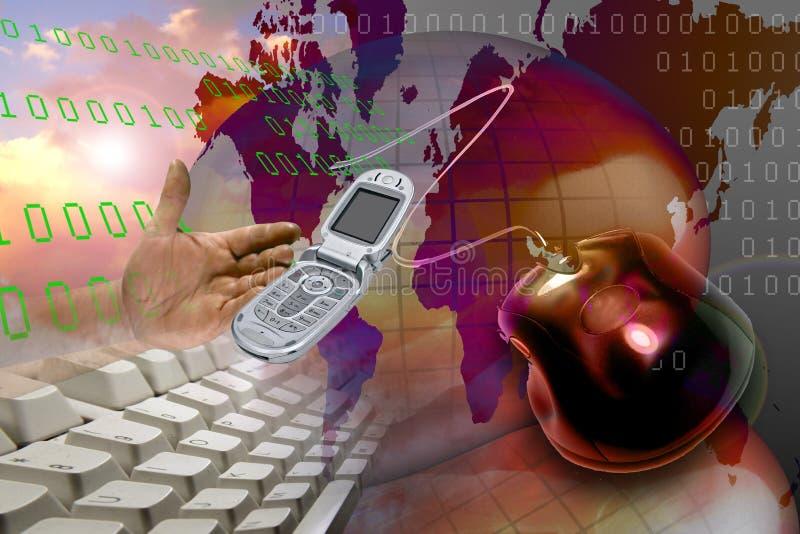 Internet do HTTP do Web de WWW da rede ilustração royalty free