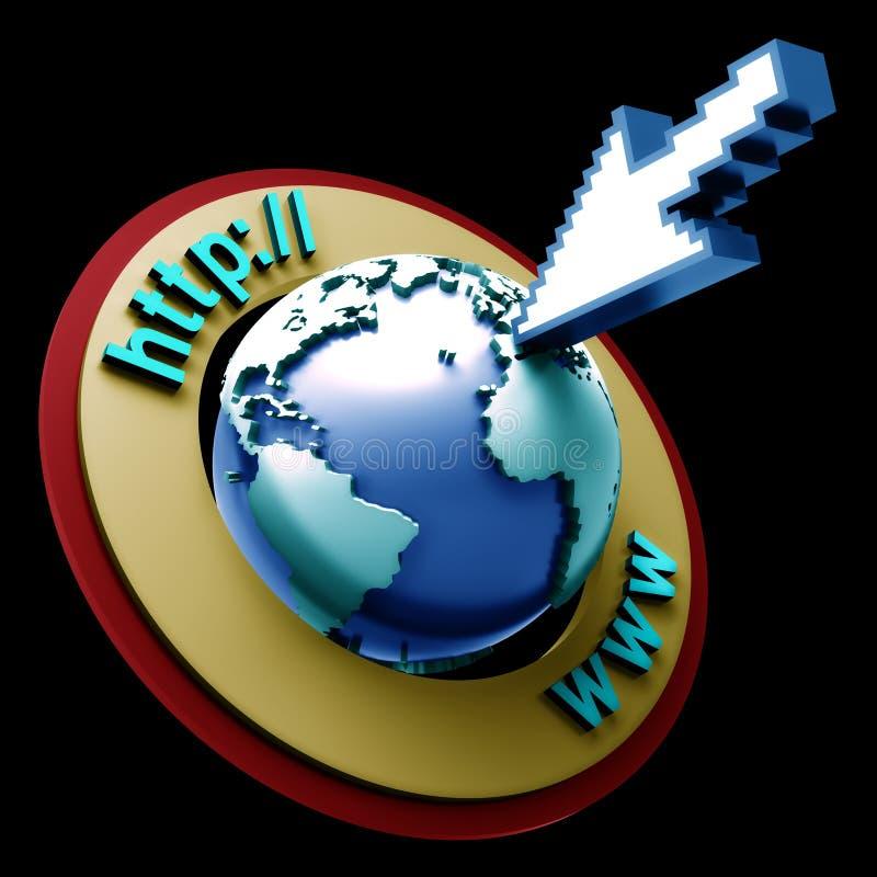 Internet do mundo ilustração stock