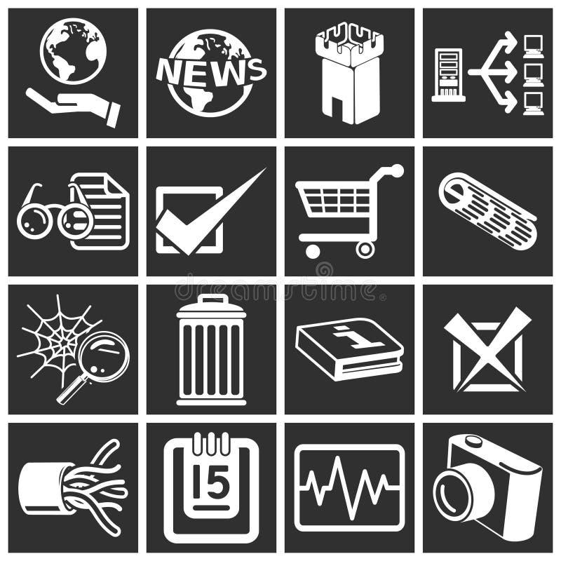 Internet e ícones de computação ilustração royalty free