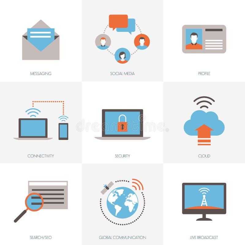 Internet e collegamenti illustrazione vettoriale