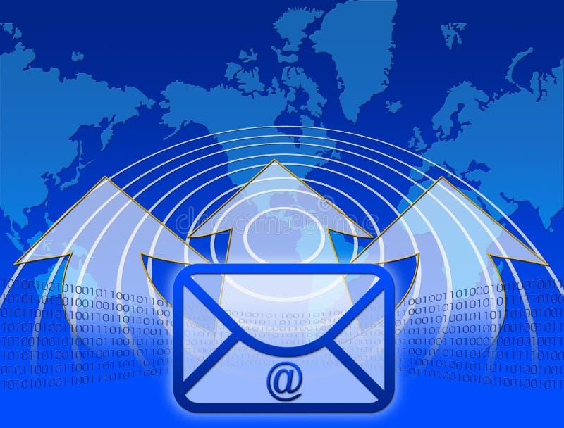 Internet e email ilustração royalty free