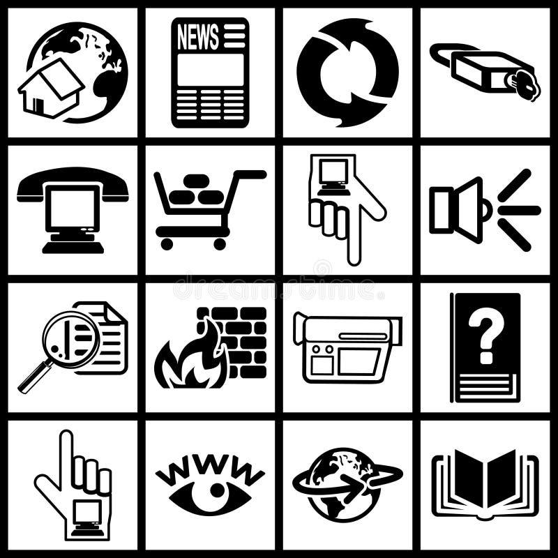 Internet e iconos computacionales libre illustration