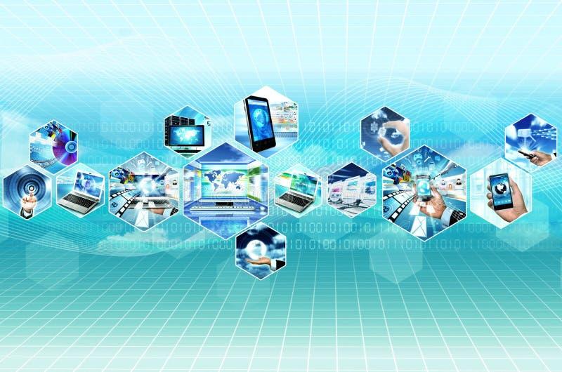 Internet e multimedia illustrazione di stock