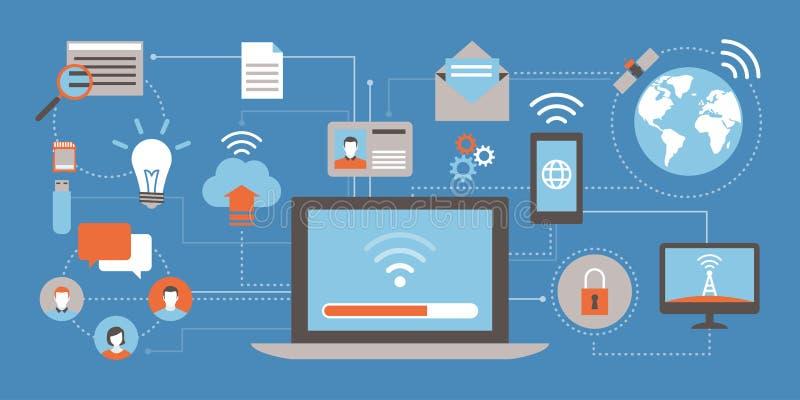 Internet e reti illustrazione di stock