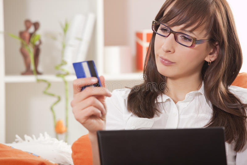 Internet-Einkaufen stockfoto