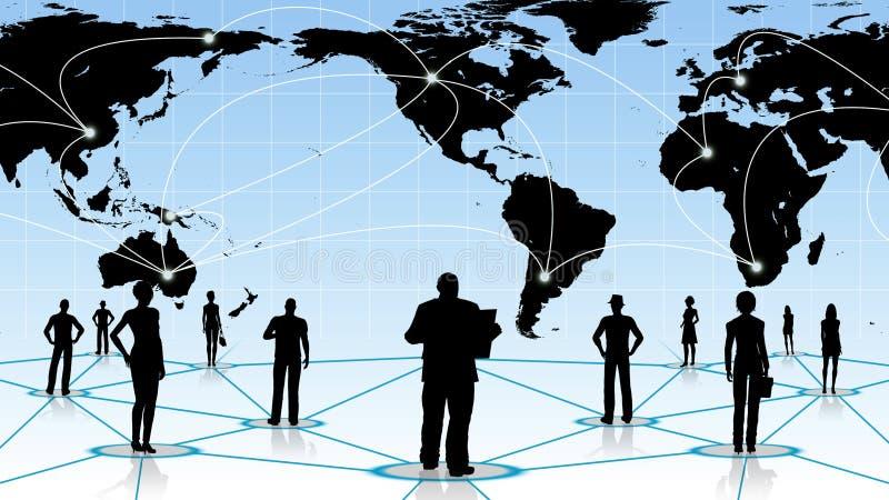 Download Internet Eller Affärsidé Av Det Globala Nätverket Stock Illustrationer - Illustration av information, internet: 78732015