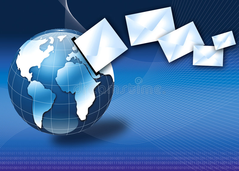 Download Internet Email Concept With 3d Globe Stock Photo - Image of business, fast: 3689126