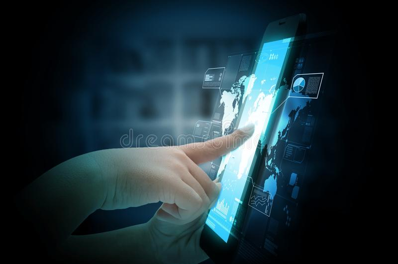 Internet en informatietechnologie concept royalty-vrije stock foto