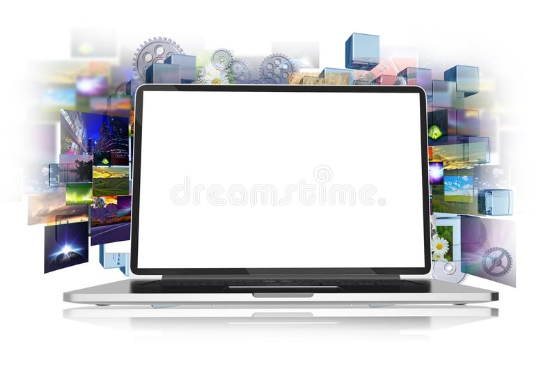 Internet en Media stock illustratie