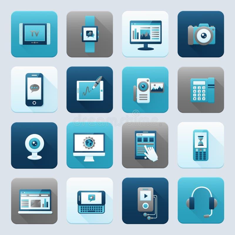 Internet en Mobiel Apparaat stock illustratie