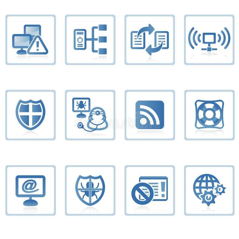 Internet en pictogram II van de Veiligheid royalty-vrije illustratie