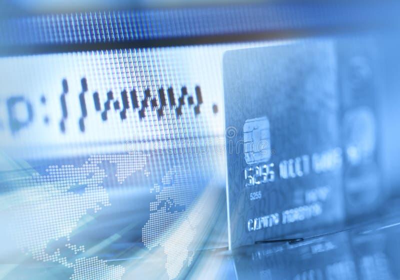 internet för webbläsarekortkreditering arkivbild