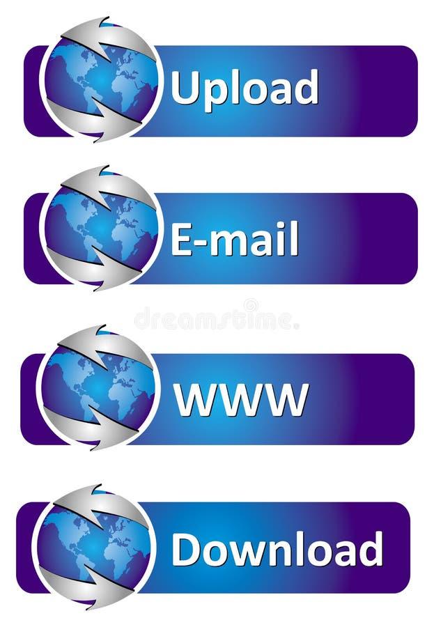 Internet-Fahnen lizenzfreie abbildung