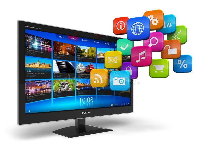 Internet-Fernsehenkonzept lizenzfreie abbildung