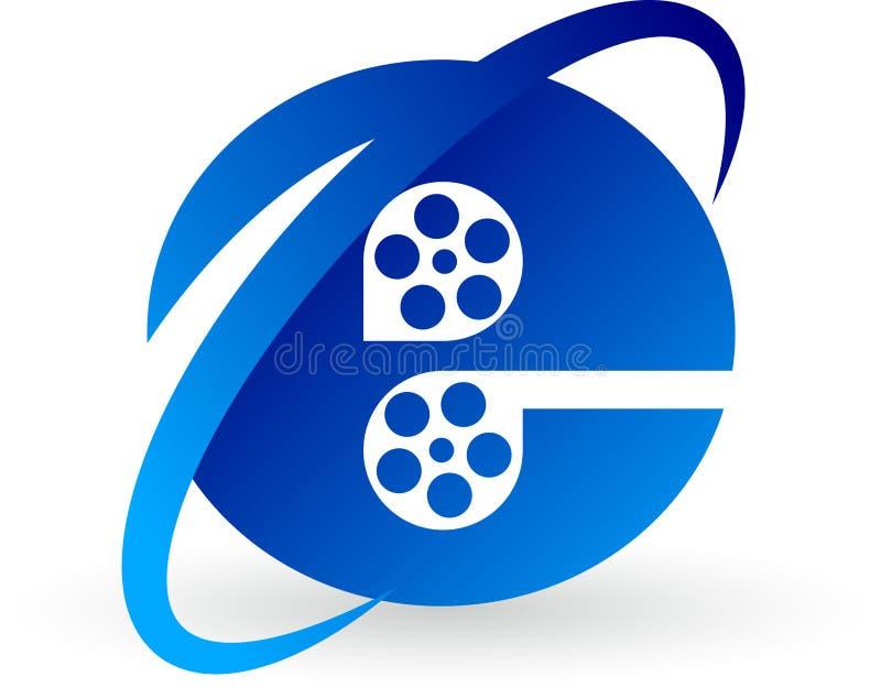 Internet film logo. Illustration art of a Internet film logo with isolated background stock illustration