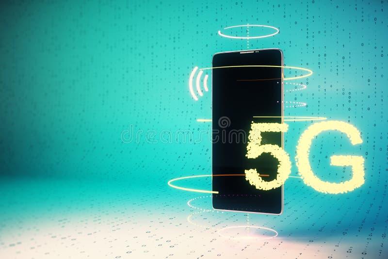 Internet and futuristic concept stock illustration