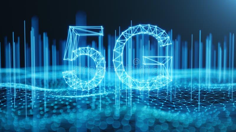 Internet 5G mobile ultra-rapide sans fil Concept de technologie Internet ? grande vitesse - le chemin de d?coupage a compris Conn illustration libre de droits