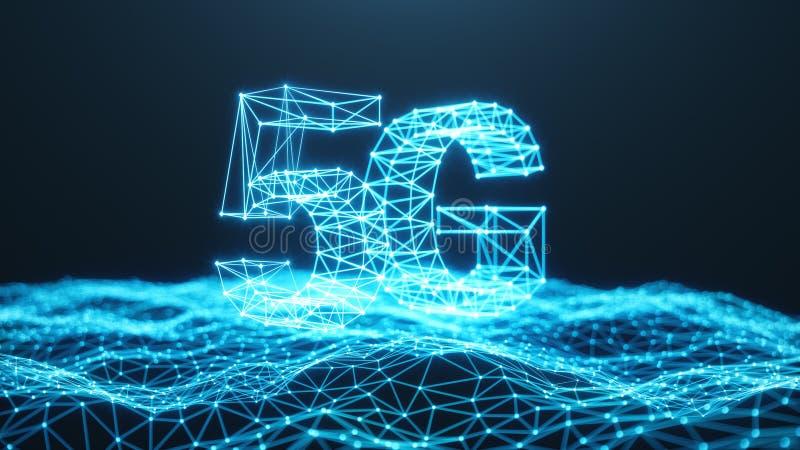Internet 5G mobile ultra-rapide sans fil Concept de technologie Internet ? grande vitesse - le chemin de d?coupage a compris Conn illustration de vecteur