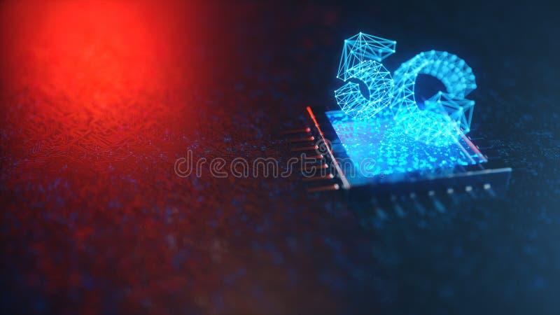 Internet 5G mobile ultra-rapide sans fil Concept de technologie Internet ? grande vitesse - le chemin de d?coupage a compris Conn illustration stock