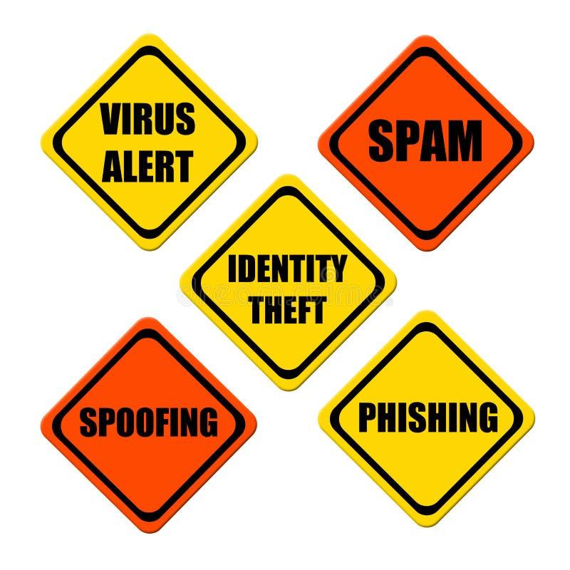 Internet-Gefahren stock abbildung