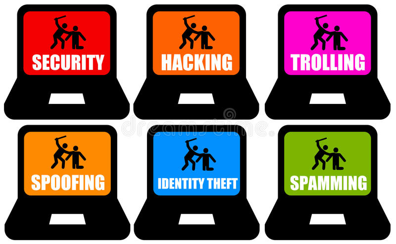 Internet-Gefahren lizenzfreie abbildung